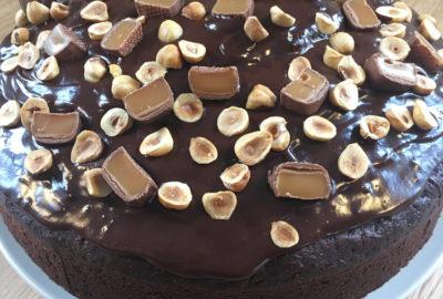 Chokoladekage, chokoladeganache